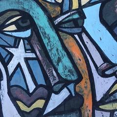 El característico mural de la Brigada Ramona Parra