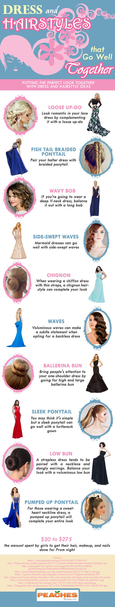 DRESS AND HAIRSTYLES THAT GO WELL TOGETHER