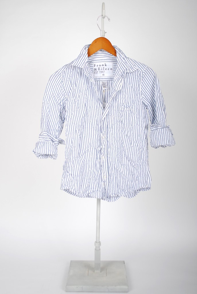The Barry Shirt - Slate Blue Stripe