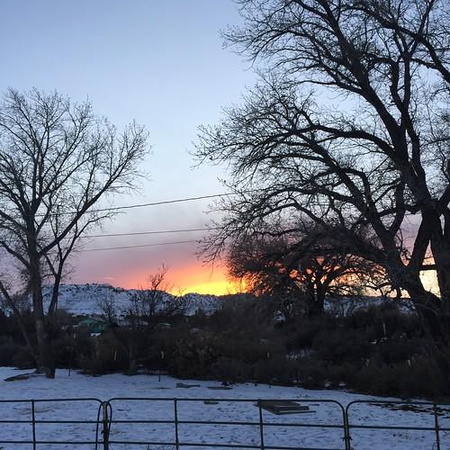 winter sunset snow day clear farmington