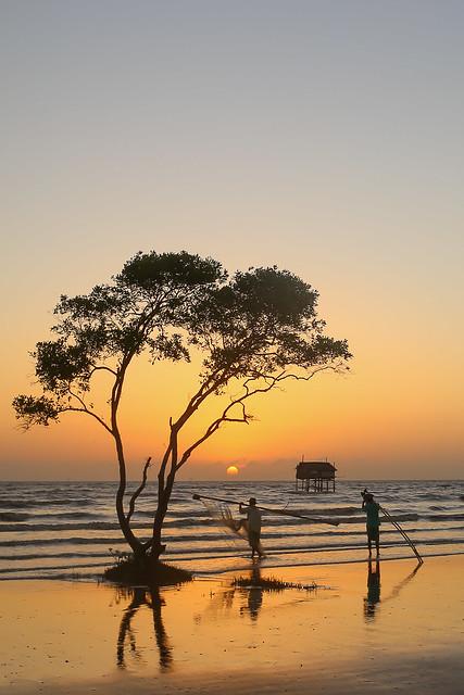 Start a new day - Sea clam picker - Go Cong Beach - VietNam