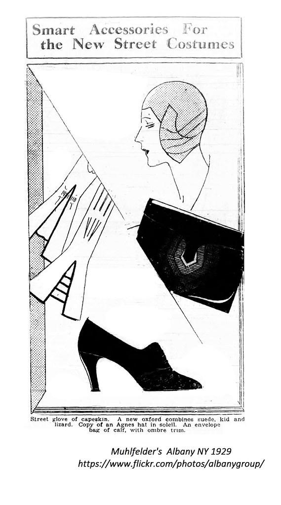 22a40f63ffc ... Muhlfelder s Vintage Cloche hat ad 1929 albany ny 1920s
