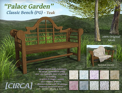 "@ The Old Fair - [CIRCA] - ""Palace Garden"" - Classic Bench (PG) - Teak"