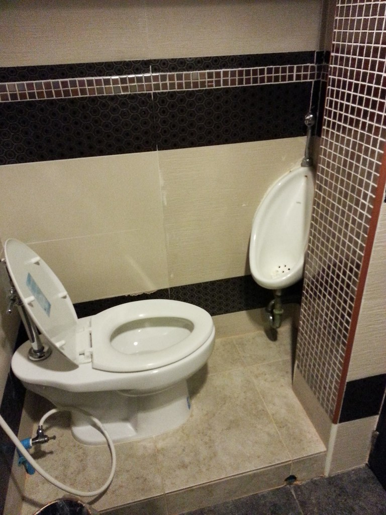 Ebony Amateur Public Bathroom