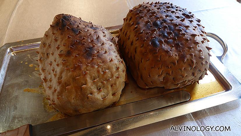 Atta Chicken - chicken wrapped in chapati dough