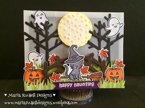 Happy Haunting Card - my entry for Lawnscaping challenge #112 (embossing),