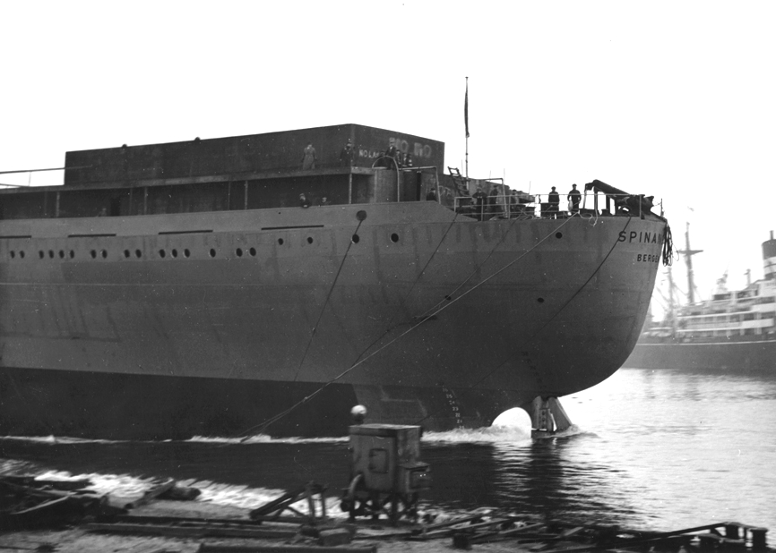 Launch of the tanker 'Spinanger'