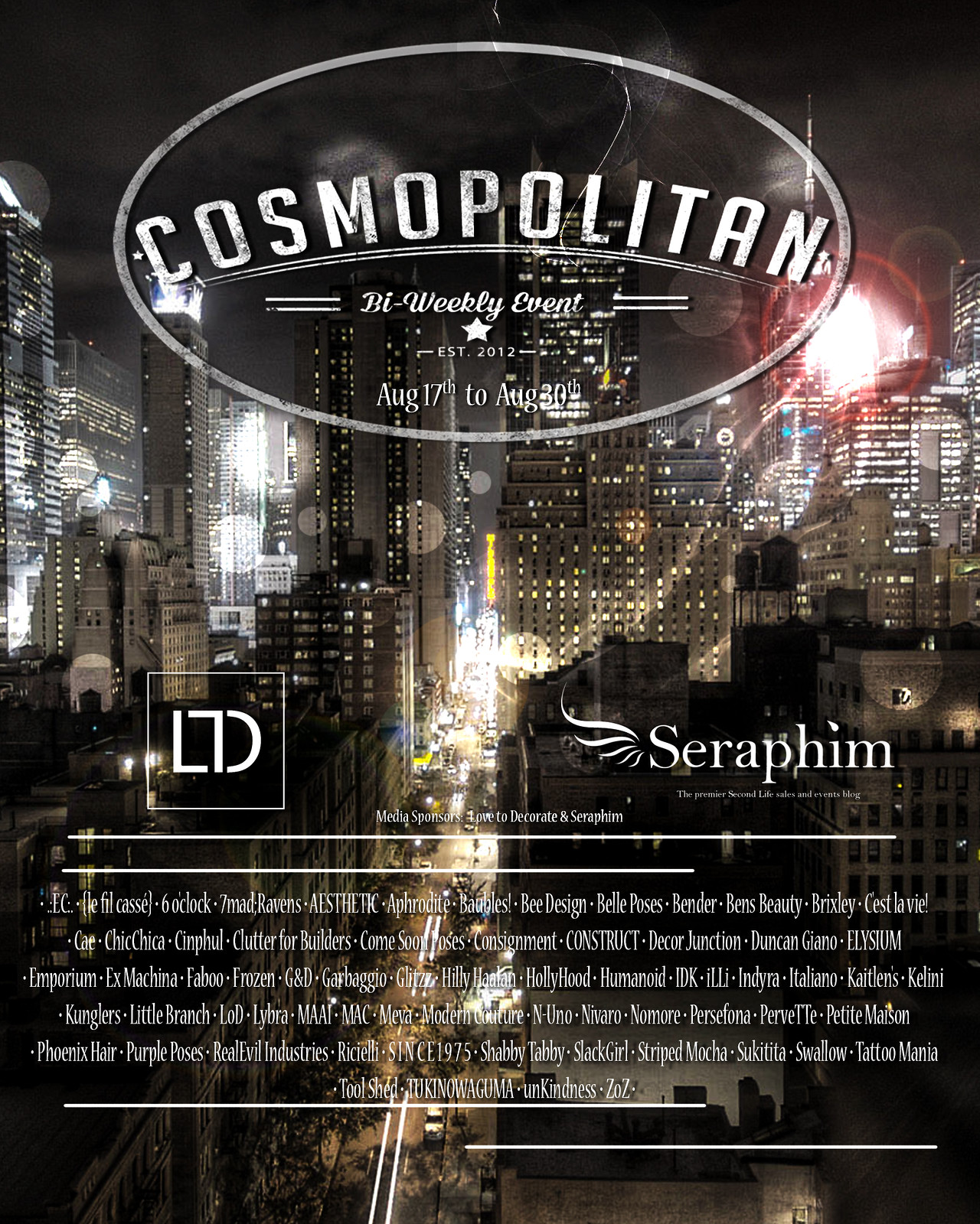 Cosmopolitan {Round 22/3} 17th - 30th August