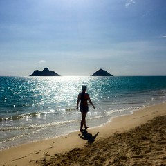 That time in Hawai'i ―when the only footprints in the sand were yours. (at Kailua Beach)