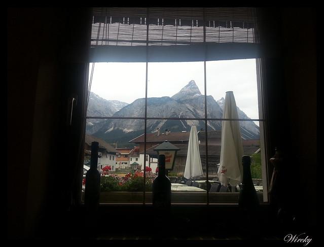 Vistas desde el restaurante de Ehrwald