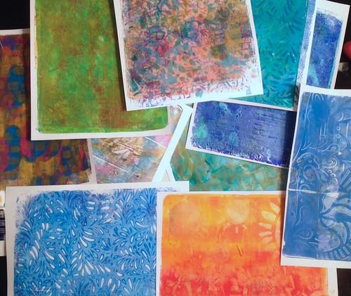 Gelli® prints