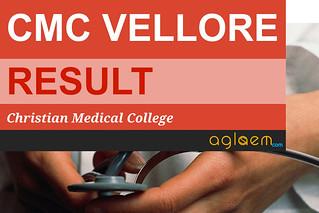 CMC Vellore Result 2017