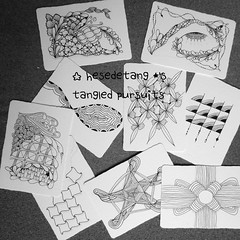 Outgoing Square One Zentangle ATC Swaps - the Pile