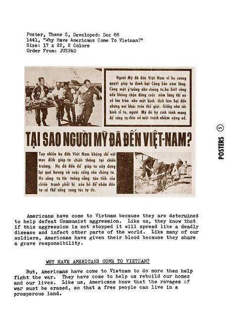 Propaganda Poster 1967 -  Why  Have  Americans  Come  To  Vietnam ?  TẠI SAO NGƯỜI MỸ ĐÃ ĐẾN VIỆT-NAM?