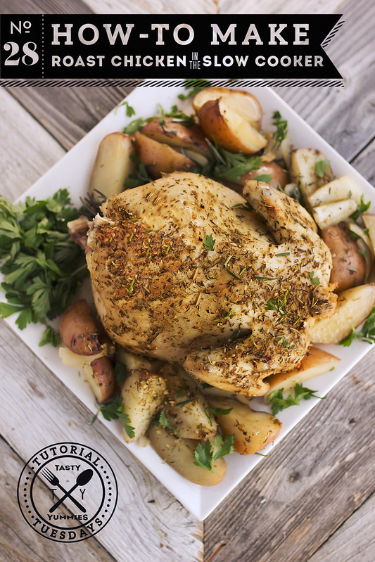 How-to Make Roast Chicken in the Slow Cooker - Tasty Yummies