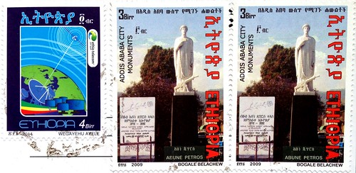 Ethiopia stamps - Postcrossing incoming