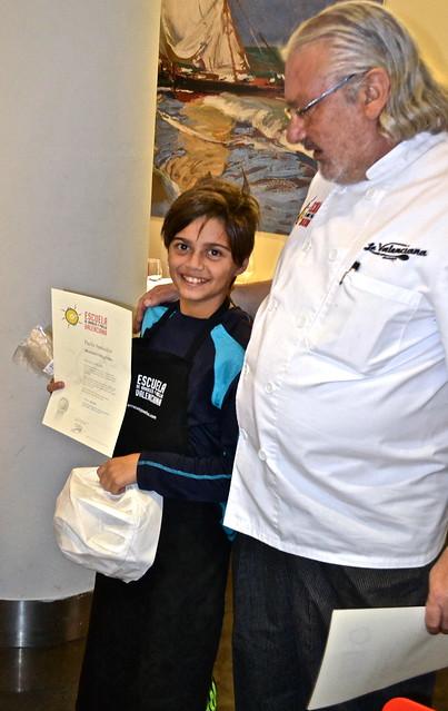 mini chef graduate - Paella Cooking Class, Valencia Spain