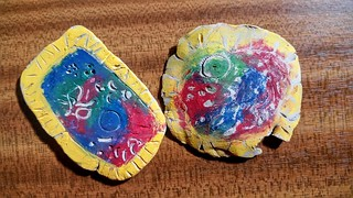 Clay slab bacteria stamps