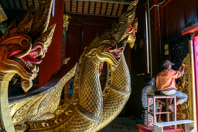 Funeral carriage for the king in Wat Xieng Thong, Luang Prabang, laos ルアンパバーン、ワット・シェントーンの王の霊柩車