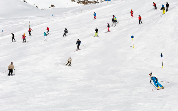 crowded slopes