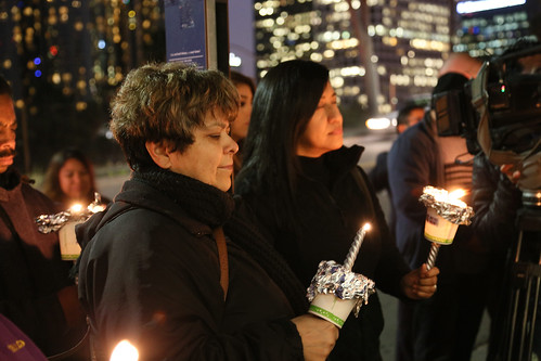 Health Care Justice at LAUSD Vigil, 12-21