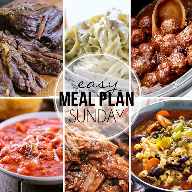 Week 27. Collaborative weekly meal planning. 9 bloggers. 6 dinner ideas, one-weekend breakfast plus 2 desserts every single week equals one heck of a delicious menu!