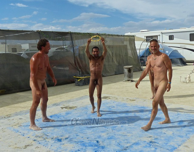 naturist wrestling camp Gymnasium 0027 Burning Man, Black Rock City, NV, USA
