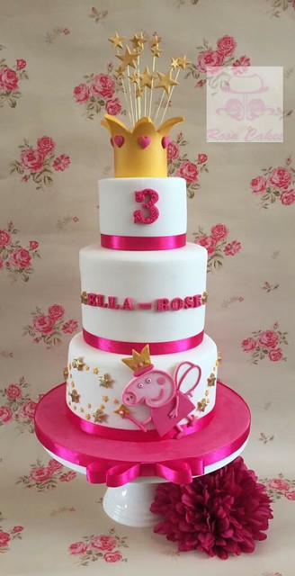 Peppa Pig Fairy Cake for a lucky little girls 3rd birthday by Hannah Rodmell of Rosa Cakes