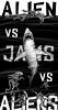 Inktober Day 15: Alien vs Jaws vs Aliens