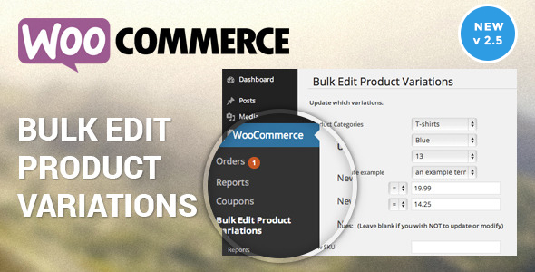 Woocommerce Bulk Edit Product Variations & Prices v2.6