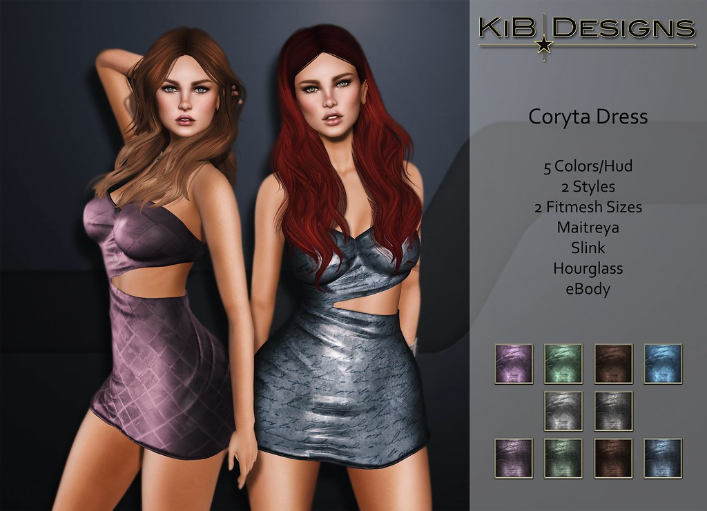 KiB Designs - Coryta Dress for Designer Showcase December - SecondLifeHub.com