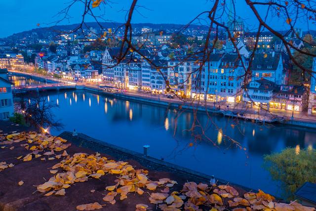 Evening mood in Zurich, Panasonic DMC-GX7, LUMIX G VARIO 14-42/F3.5-5.6 II