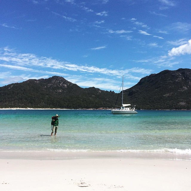 245/365 • the bloke and what he built • #245_2016 #M #Spring2016 #tasmania #catamaran #discovertasmania #wineglassbay  #bellalunaboat