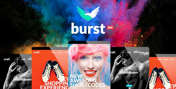 Burst v1.7 - A Bold and Vibrant WordPress Theme