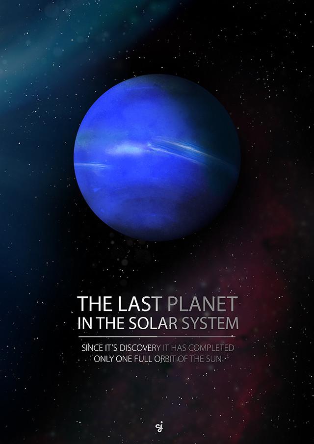 Planet Neptune poster design