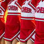 Group of Cheerleaders in a Row