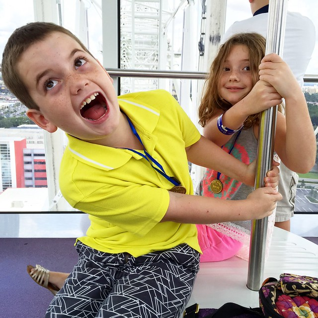 Scaredy Cats on the Orlando Eye