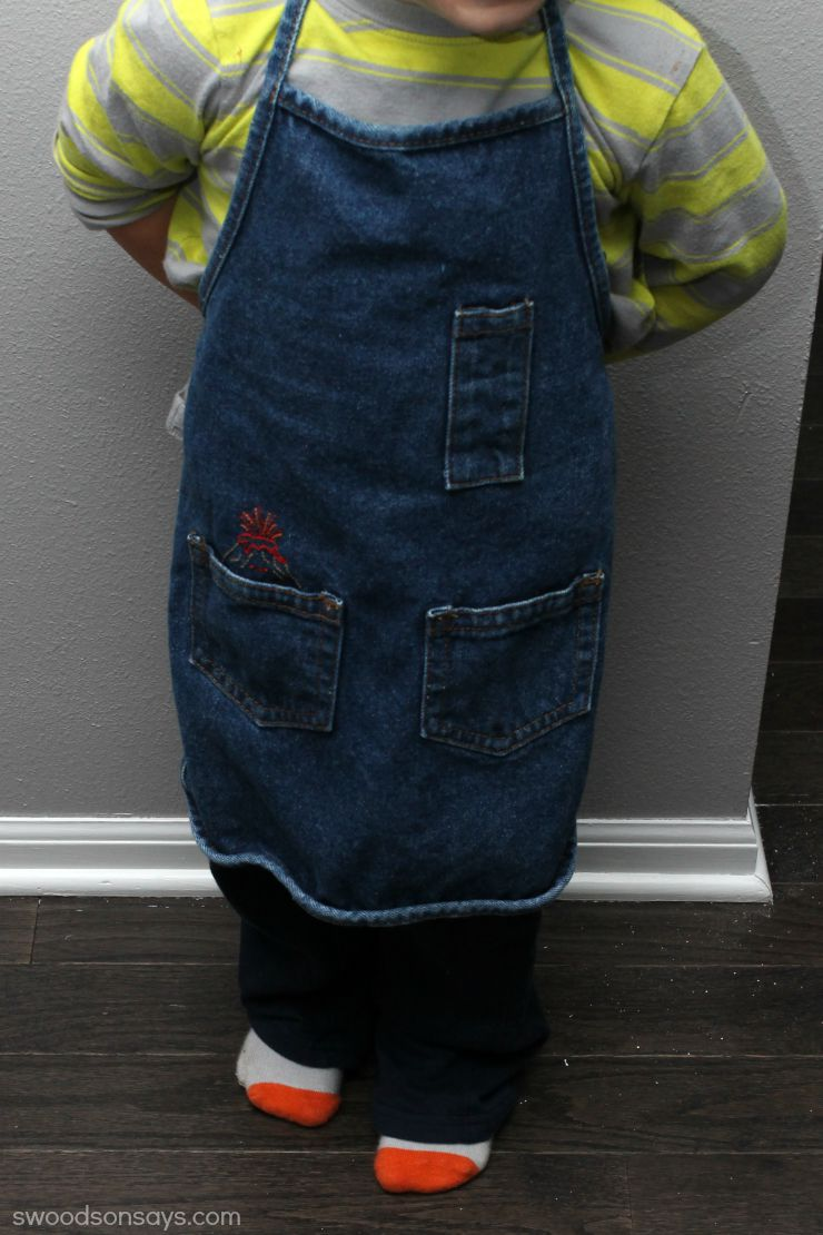 embroidered boy's apron