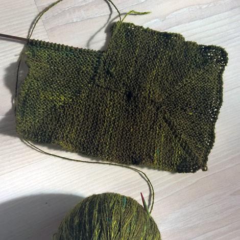 Handspun ten stitch blanket