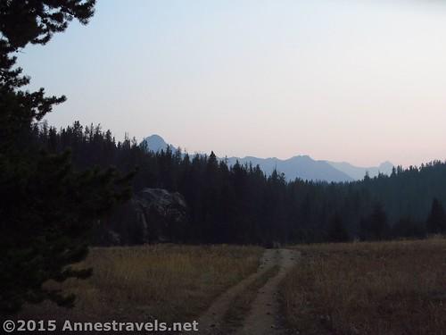 Big Sandy Trail before sunrise, Wind River Range, Wyoming