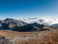 白馬山荘から見る剱岳