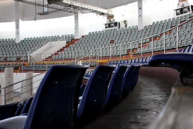 The newly-rehabilitated interior of the Tacloban City Coliseum