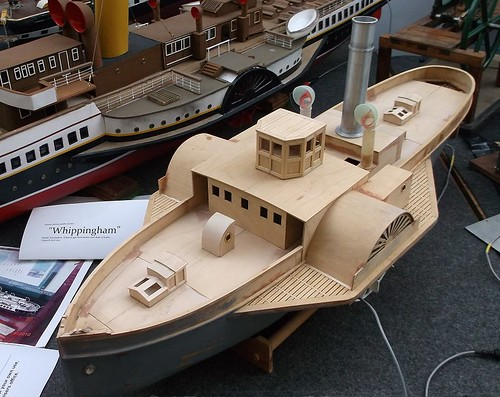 Wooden paddlesteamer