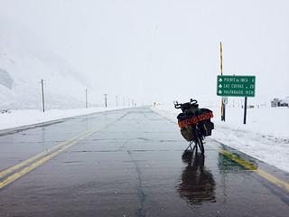 A 20 kilomètres de la cime du Paso Los Libertadores