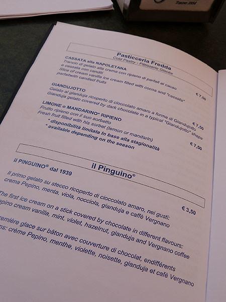 menu pepino