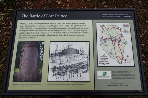 Fort Prince infomation board - 2