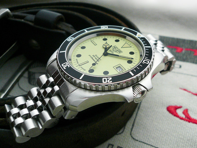 Heuerville vintage heuer tag heuer watches and a few others plus handmade straps - Heuer dive watch ...