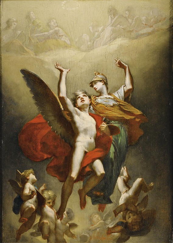 Pierre-Paul Prud'hon - Minerve leading the genius of Arts to immortality (1824)
