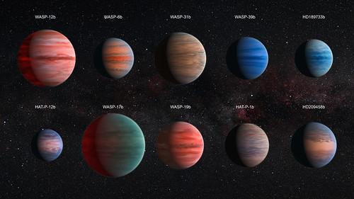 Exoplanetas de tipo Júpiter caliente analizados