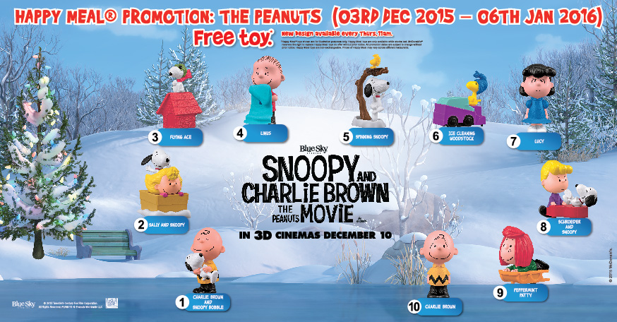 83fd7ff0ed Free Peanuts Figurines With McDonald s Happy Meal - The Dead Cockroach